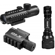Barska 4x30 IR Electro Sight w/ GLX Green Laser & LED Flashlight Combo Pack