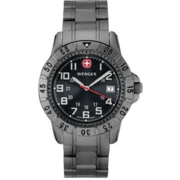 Wenger Mountaineer Titanium Watch - Men's Swiss Army Stainless Steel Water Resistant Watch