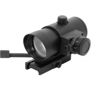 NcSTAR 1x40 Red Dot Sight w/ Built in Red Laser-QR Weaver Mount