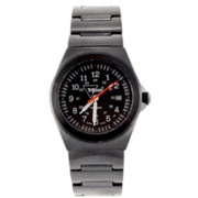 Trijicon Men's Limited Edition Serialized Water Resistant Trooper Watch - Black, Steel