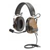 3M Peltor ComTac III FB Single Comm Electronic Headset NATO Wiring - Headband Model