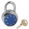 American Lock A400 Blue Face Combination Padlock - Optional Key