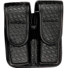 Bianchi 7902 Double Mag Pouch - Basket Black, Hidden 22075