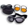 Bobster Cruiser II Black Frame Interchangeable Goggles with 3 Lens Set BCA2031AC