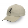 Browning Twill Cap with 3-D Buckmark and Pipe Brim