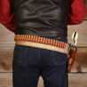 DeSantis Style B48 Butch Cassidy Belt - Leather Gun Belt w/ Cartridge Loops