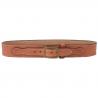 DeSantis Style B37 Desperado Gun Belt - Suede-Lined Leather Belt w/ Cartridge Loops