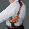 DeSantis Left Hand Tan C.E.O. Shoulder Holster 11ZTBE8Z0 - GLOCK 20, 21, 21SF, 29, 30, 37, 38, 39