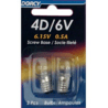 Dorcy 6V/4D- 6.15V 0.5A Screw Base Bulb - 2 Pk 41-1655 - Case of 12