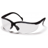 Pyramex Venture II Safety Glasses 12-Pack - Clear Lens, Black Frame SB1810S