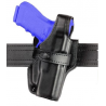 Safariland 070 Duty Holster, SSIII Mid-Ride, Level III Retention - Plain Black, Left Hand 070-65-162