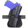 Safariland 5181 Open-Top Paddle Holster - Plain Black, Right Hand 5181-20-61