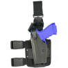 Safariland 6005 SLS Tactical Holster w/ Quick Release Leg Harness - Tactical Black, Left Hand 6005-3