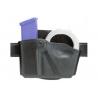 Safariland 573 Concealment Magazine Holder, Paddle, Single w/Cuff Pouch - STX Tactical Black, Left Hand 573-83-132