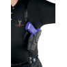 Safariland 1051 ALS Shoulder Holster System - Plain Black, Left Hand 1051-219-62