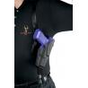 Safariland 1051 ALS Shoulder Holster System - Plain Black, Right Hand 1051-74-61