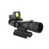 Trijicon ACOG 3x30 Scope, Dual Illuminated Amber Horseshoe/Dot .223 Ballistic Reticle, 4.0 MOA RMR Sight, and TA60 Mount