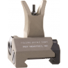 Troy Front Tritium M4 Gas Block Mounted BattleSights-Black and Flat Dark Earth