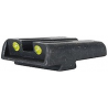 TruGlo Tritium / Fiber Optic TFO Hand Gun Sights - Green Front/Yellow Rear