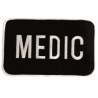 Uncle Mike's Small or Large Black and White Medic ID Patch