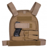 US Palm Handgun Defender Soft Armor Plate Carrier With One Level IIIA Soft Armor Panel Large/Standard 10x12.5 Inch Panel Right Hand Coyote Tan USP00400213