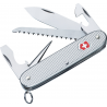 Victorinox Farmer Swiss Army Knife Silver Alox Ribbed