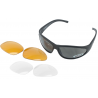 Wiley-X ROMER III 1004 Interchangables Sunglasses Goggles w/ 2 Sets of Lenses: Smoke & Clear