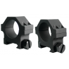 Yankee Hill Machine 4-Screw Low Profile Scope Ring Set Short 30mm Picatinny Matte Black YHM-304A