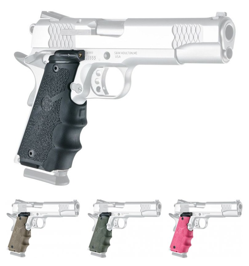 Hogue Red Laser Grips For 1911 Government Models